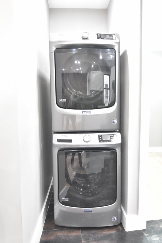 Washer/Dryer in Exposed Brick Unit